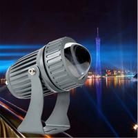 außenwand unterlegscheiben beleuchtung großhandel-Schmaler Strahl führte Wandwaschlampenlampe 10W RGB-Flutlichtlandschaft im Freien, der AC85-265V wasserdichte Scheinwerfer lineares Licht beleuchtet