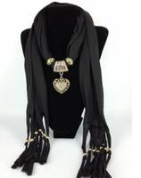 Wholesale Wholesale Cross Pendant Scarves - 8 colors Women Jewelry Beads drape Scarf Decoration Pendant Scarves Candy Design fortunate WY99 500p