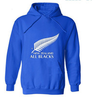 Wholesale new zealand clothing - new men brand New Zealand all black hoodies rugby jerseys sweatshirt male hooded sports clothing
