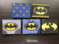 Wholesale Marvel Comics Photos - Comics DC Marvel Cartoon PVC Bags Kids Wallets Cool Batman Creation Purse Fashionable Durable Wallet carteira feminina