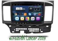 10.2 pulgadas Android 6.0 Car DVD Gps Navi Audio para MITSUBISHI LANCER HD1024 * 600 OBD 1GB DR 16GB WIFI QUAD CORE