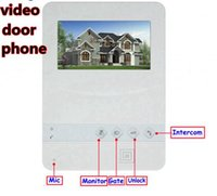 """Wholesale Lcd Video Door Phone Wireless - 4.3"""" Color TFT LCD video door phone with CMOS 700 TVL rain-proof outdoor camera for villa house"""