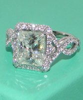 Wholesale Women s Silver Filled Diamond Simulated CZ Stone Pave Set Wedding Ring Brand Jewelry