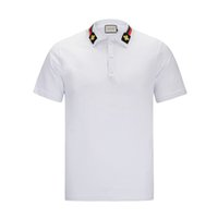 Wholesale Model Bees - G Summer New Men's Short Sleeve POLO Shirt Solid Color High Quality Neckline Bee Embroidery Models Tshirt