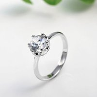 Anillo de Bodas Moissanite Oro Sólido Real 14K Blanco Moissanite 1.0 Ct Corte Redondo VVS, H Certified Factory Direct