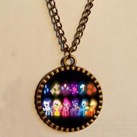 Wholesale Magic Dash - wholesale My Little Pony Friendship Is Magic necklace Rainbow dash Antique glass Pendant Jewelry Chain gift Lot 2016