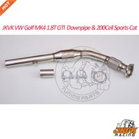 JKVK RACING VW Golf MK4 1.8T GTI Audi A3 1.8T 1996-2003 scarico Downpipe 200CPI High Flow Sport Cat Catalizzatore