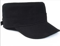 Wholesale Korean Tidal Hats - Wholesale-the influx of non-standard doctrine minimalist bare male and female Korean tidal flat-topped hat summer cap strong canvas cap