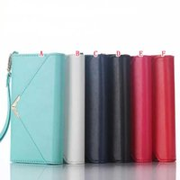 Wholesale Envelope Case Purse - Envelope Wallet Leather Case For Iphone 7 I7 6S 6 plus Iphone7 Fold Rope Photo Frame Money ID Card Pouch Purse TPU Clutch Fashion Bag Cover