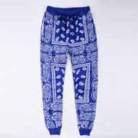 панталоны hip hop hombre оптовых-Оптовая продажа-мужские бегунов тренировочные брюки Хабар pantalones hombre красный синий бандана бегунов мужские брюки хип-хоп женщин брюки уличной унисекс