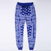 ingrosso pantaloni da jogging hip hop donne-Wholesale-mens pantaloni sportivi pantaloni della tuta swag pantalones hombre rosso blu bandana jogging pantaloni uomo hip hop donna pantaloni streetwear unisex