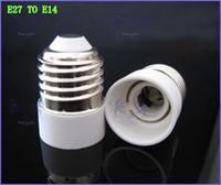 luces de araña al por mayor-2017 Adaptador de la base de la bombilla LED E27 a E14 // E14 a E27 / E27 a B22Converter para lámpara LED bombilla halógena CFL
