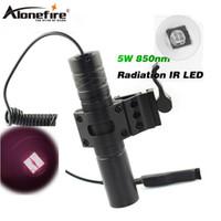 infrarot-lichter für nachtsicht großhandel-AloneFire 850nm Zoom Infrarotstrahlung IR LED Nachtsicht Taschenlampe Camping Licht Jagd Lampe Taschenlampe IR01