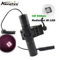 Wholesale Ir Infrared Night Vision - AloneFire 850nm Zoom Infrared Radiation IR LED Night Vision Flashlight Camping Light Hunting Lamp Flashlight IR01