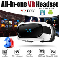 Todos em um VR Headsets Hot Virtual Reality Glasses Wifi Bluetooth Android 5.1 Mobile 3D Cinema VR Box Head Mount 3D Movie Game Glasses B-XY