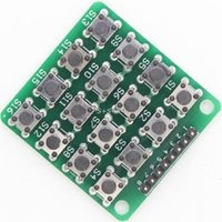 Gros-Smart Electronics 8PIN 4 * 4 4x4 Matrice 16 Clavier Clavier Breadboard Module 16 Bouton Mcu pour Kit Arduino Diy Starter