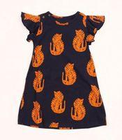Wholesale Tiger Tutu - Free UPS Fedex Ship Mini rodini Kids girls dress baby clothes Animal Tiger cartoon Fly sleeve summer childrens dresses 2016 meisjes kleding