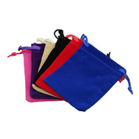 Wholesale Drawstring Black Velvet Bags - 7 x 9 cm Fashion Jewelry Pouches Bags Velvet Drawstring Bags Black Red Blue Purple 5 Colors Avialable Free Shipping