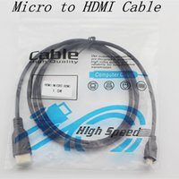 Wholesale Hdmi Micro 3m - Micro HMDI to HDMI Cable Type D V1.3 Gold Connector Digital Audio Video Cable 1.5M 5FT 3M 10FT 1080P 3D LCD HDTV