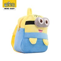 Wholesale Kids Novelty Backpacks - 2015 New Fashion Novelty Adorable Cartoon Animal lovely Kids School bag Minions Spider man Backpack free shipping