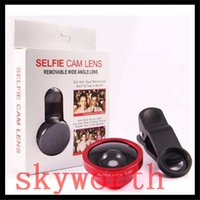 Wholesale Ipad Lenses Wide Angle - Selfie Cam Lens With Universal Super Wide 0.4x Angle Camera Clip Lens for samsung s7 iPhone 66S plus Tablet PC Ipad Laptops