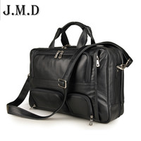 "Wholesale 17 Laptop Messenger Bag Leather - Wholesale- Genuine Leather Men bag Briefcase Leather Briefcase 17"" Laptop Business Bag Men's Messenger Bags men's travel bags Handbag 2016"