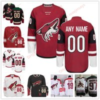 Wholesale Blue Coyote - Stitched Custom Arizona Coyotes mens womens youth OLD BRAND Third Phoenix Customized Brick Red Black White Throwback ice hockey Jersey S-4XL