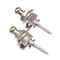 ingrosso serrature metalliche-Chrome Schaller Guitar Straps Locks Silver Metal Accessori per chitarra acustica Design unico di alta qualità MU0736-3