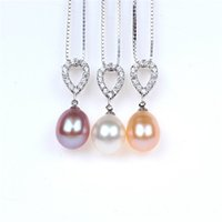 Wholesale Nanyang Necklace - 925 Silver Necklace Pendant female Nanyang natural pearl pendant South Korean jewelry D-138