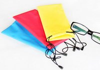 Wholesale Soft Bags For Glasses - Portable Soft Waterproof bag for sunglass eyeglass Mobile 3D glasses Protecitve case Bag pouch Free shipping 2000pcs lot