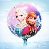 Wholesale Minion Toys Inch - Wholesale-HOT SELL NEW 1pcs 18 inch Anna and Elsa cartoon baby toy Minions foil helium balloons Best Gift For Girls
