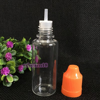 Wholesale clear plastic bottles for sale resale online - 2018 Hot Empty ml Clear PET Dropper Bottle Plastic Bottles With Childproof Cap Long Thin Tip For E Cig E liquid On Sale