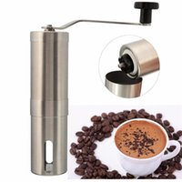 Wholesale coffee bean grinders resale online - Silver Stainless Steel Hand Manual Handmade Coffee Bean Grinder Mill Kitchen Grinding Tool g x18 cm Home