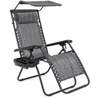 сгибатель оптовых-Складывая стул салона Recliner невесомости w / держатель чашки тени