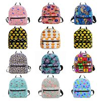 Barato Pequenos Sacos De Lona Para Crianças-Cartoon Printing Canvas Backpacks Mini sacos escolares para mochila adolescente mochila Kids School Shoulder Bags Small Women Bag 30pcs OOA3560