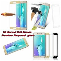 glasses for 3d 2018 - 3D Curved Bending Part Full Cover Premium Screen Protector For Samsung Galaxy S6 Edge G9250 Plus edge+ G9280 Tempered Glass With Retail Box