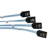 Wholesale Hdmi Cable Meter - Mini SAS 36P&SATA 7PX4 SFF-8087 Serial ATA Adaptor Connector blue head straight straight head of 1 meters SOVO