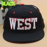 Wholesale Blue Sky Exo - FREE SHIPPING Wholesale FASHION EXO WEST EMBROIDERED STINGY BRIM HATS MEN WOMEN Knit Hats And Snapback Caps SPRING Winter