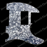 Wholesale Pick Guard Guitar - Cyan Pearl 3Ply Double coil Pickup Monting Hole Electric Guitar Pickguard Anti-Scratch Plate Pick guard