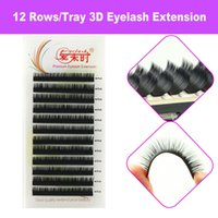 Wholesale Silk Eyelashes Extensions - Thinkshow 1 Tracy B C D Curl 8-15mm 3D Russia Silk VOlume Natural Eyelash Extension False Eyelashes Individual Eyelashes Makeup Fake Lashes