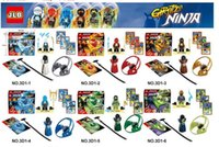 Wholesale Educational Toys Block Ninja - New Ninja Flying Rotary Remote Ninjago Minifigure Building Block Kids Educational Toys Ninjagoed 6pcs lot