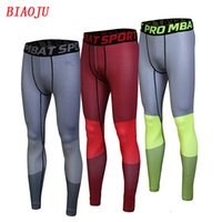 Wholesale Sports Leggings For Men - Jimesports Quick Dry Mens Sports Compression Running Pants Men Gym Joggers Outdoor Leggings Basketball Base Layer Pants for Men