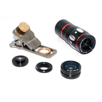 Wholesale cat cameras - Universal 4in1 Cat clip 10X Telephoto Lens +180 degree Fisheye+0.67X Wide Angle Micro Lens Camera kit For Mobile Phone