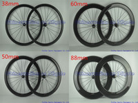 Wholesale Road Bike Wheel Decal Stickers - Full carbon road bike wheels Wheelset without decal stickers full black 3K UD glossy matte finish 38 50 60 88 mm original brand available