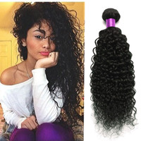 Wholesale peruvian wavy curly virgin hair for sale - Group buy Brazilian Kinky Curly Virgin Hair Bundle Deals Human Hair Weave A Unprocessed Virgin Hair Virgin Brazilian Wavy Weave Online