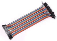 Wholesale Pin Jumpers - Hot Worldwide 40pcs 20cm 2.54mm 1p-1p Pin Female to Female Color Breadboard Cable Jump Wire Jumper For Arduino