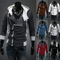 Wholesale Korean Jackets Men Sale - hot sale 2016 new styles Men's Autumn and winter Black Hoodies cardigan Korean men's Zip Hoodie Cool Jacket