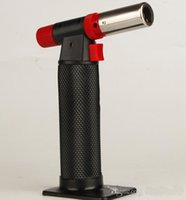 Wholesale jet flame burner - Butane Gas Jet FlameTorch Lighter Soldering Gun Refillable Butane Gas Burner Butane Gas Jet Flame Torch Lighter