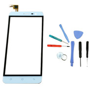 reemplazo de la pantalla frontal del iphone blanco al por mayor-Al por mayor- LINGWUZHE Repair Toolkit + Panel de vidrio frontal de pantalla táctil digitalizador piezas de repuesto para Hisense F20 5.5 pulgadas blanco