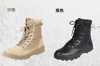 Wholesale Swat Boots Desert - Crazy sale Men's Military Boots Canvas Vamp Swat Tactical Desert Combat Boots Outdoor Shoes For Man Breathable boots free shipping